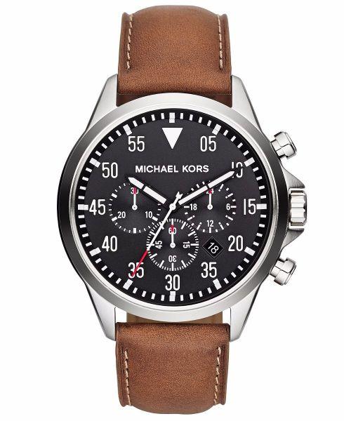 bf22a30c1b6 Relógio Michael Kors Mk8333 Pulseira Couro Original Garantia ...