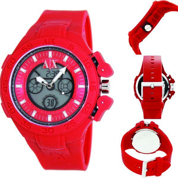 04e75f68762 Relógio Armani Exchange Ax1281 Vermelho Garantia 02 Anos ...