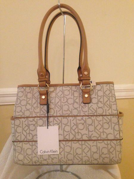771d31aa1 Bolsa Calvin Klein Original Em Branca E Dourada Garantia ...